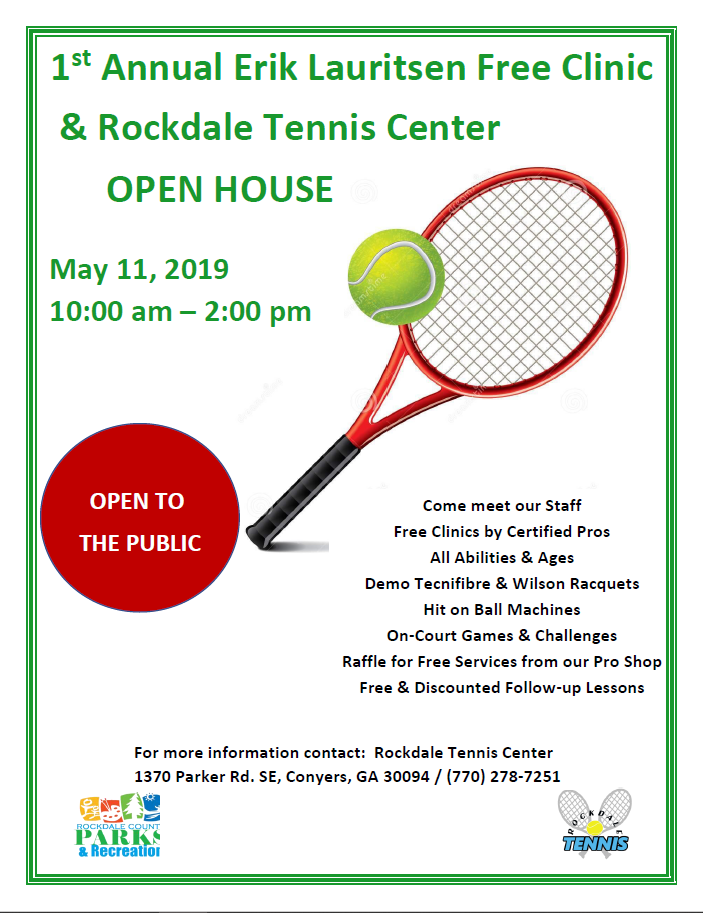 Rockdale Tennis Center Open House & Free Tennis Clinic @ Rockdale Tennis Center