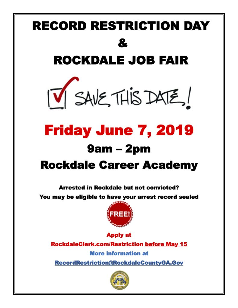 Record Restriction Day and Job Fair @ Rockdale Career Academy