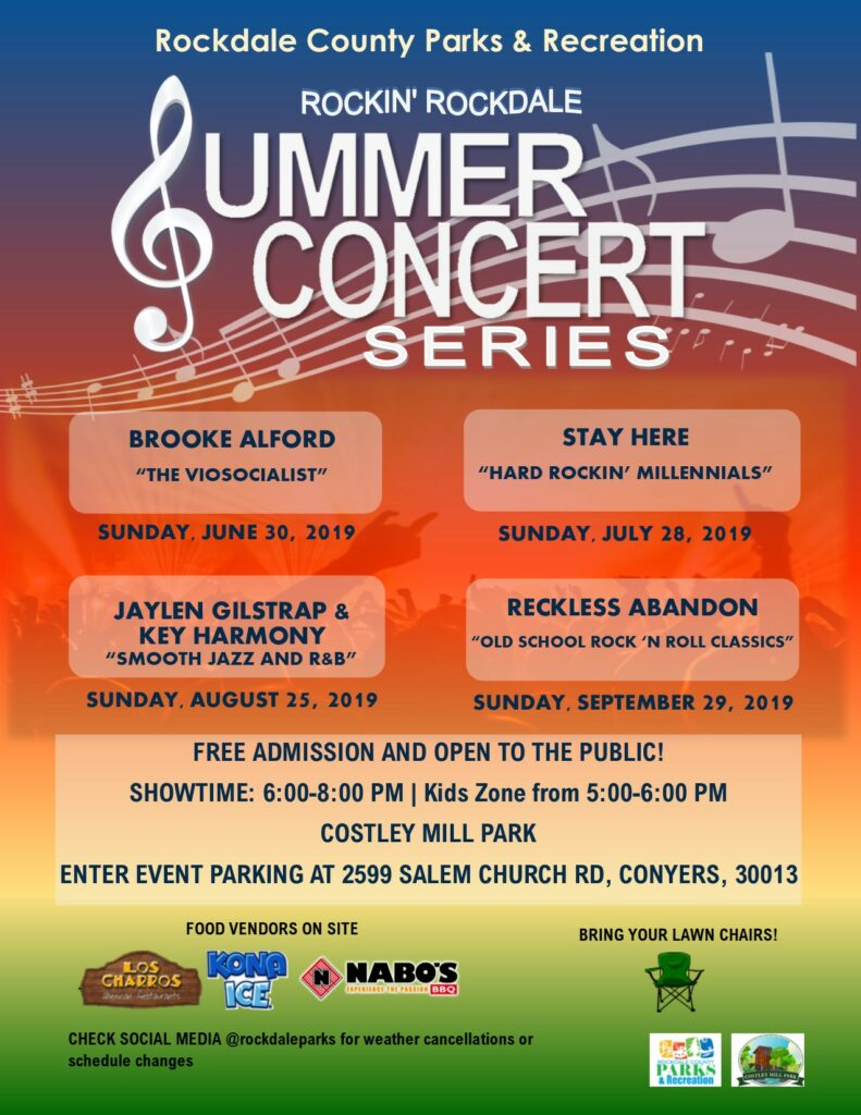 "Rockin' Rockdale presents: Jaylen Gilstrap & Key Harmony performing ""Smooth Jazz and R&B"" @ Costley Mill Park"