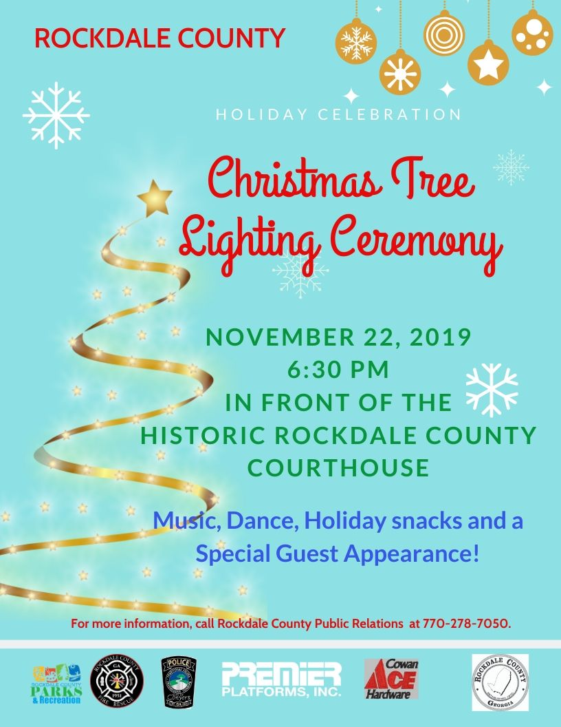 Rockdale County's Christmas Tree Lighting Event @ The Historic Rockdale County Courthouse