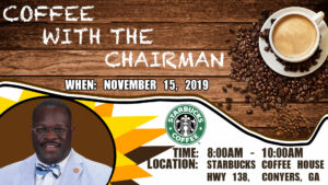 Coffee with Rockdale County Chairman Oz Nesbitt, Sr. @ Starbucks Coffee
