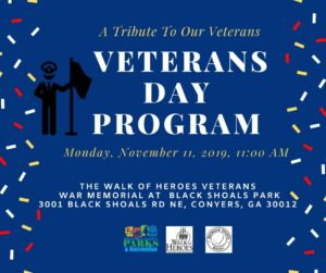 Rockdale County Will Pay Tribute to Veterans at Walk of Heroes @ The Walk of Heroes Veterans War Memorial