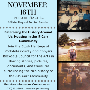 Black Heritage of Rockdale County and Conyers @ Olivia Haydel Senior Center