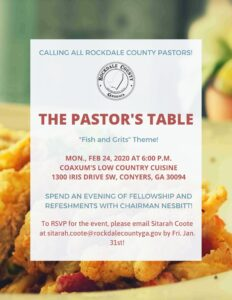 The Pastor's Table @ Coaxum's Low Country Cuisine