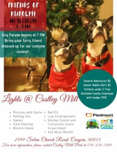 Lights@Costley Mill - Dog Costume Contest and Dog Parade @ Costley Mill Park