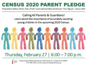 Census 2020 Parent Pledge - The Count is On! @ Nancy Guinn Memorial Library