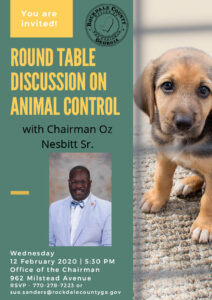 Round Table Discussion with Chairman Oz Nesbitt - February 12th @ 5:30 pm @ Rockdale County BOC Conference Room