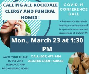 COVID-19 Conference Call For Local Clergy and Funeral Homes