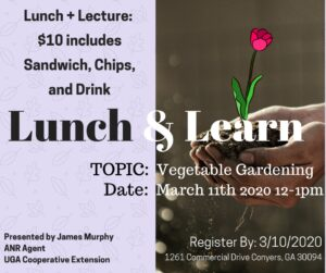 Lunch & Learn - Vegetable Gardening
