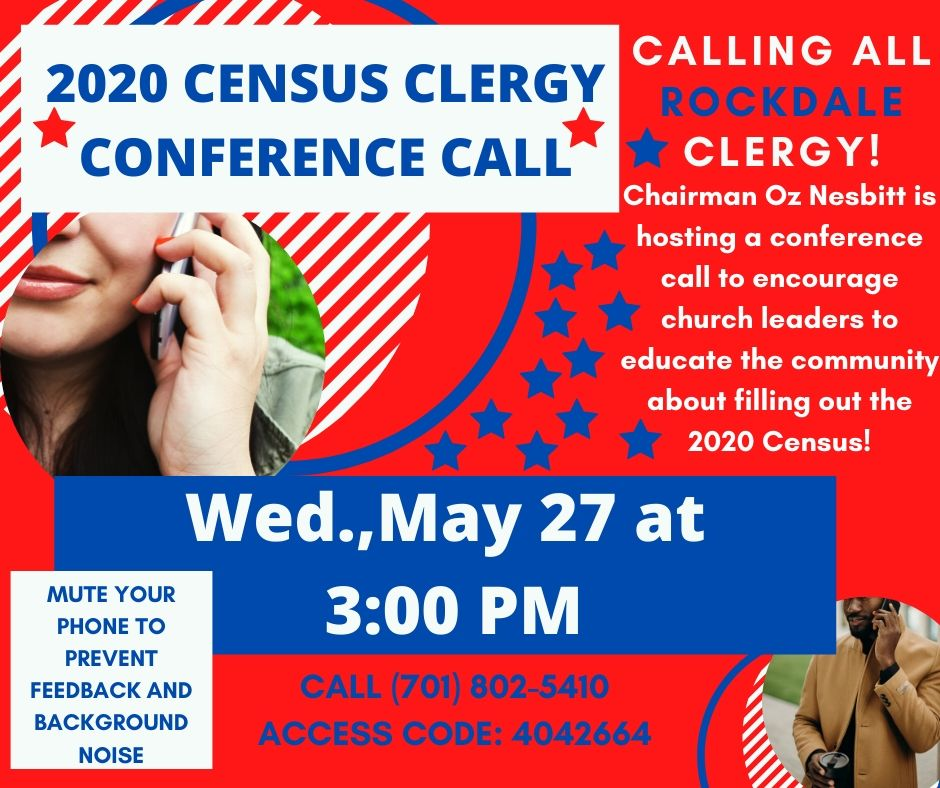 2020 Census Clergy Conference Call @ Teleconference