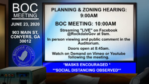 Rockdale County Planning and Zoning Meeting @ Auditorium