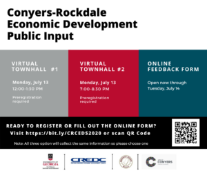 Conyers-Rockdale Economic Development Virtual Townhall #1