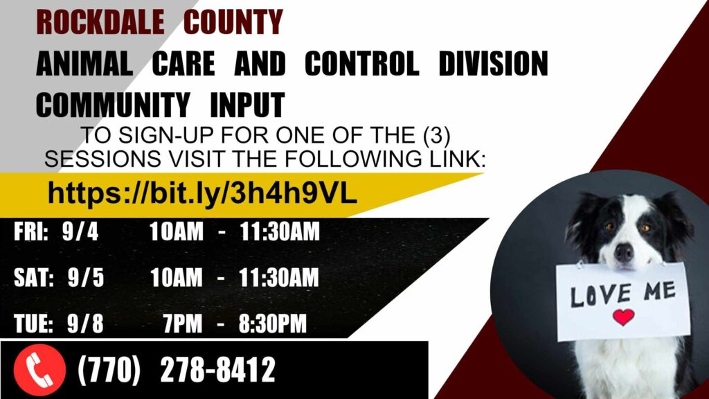 Rockdale County Animal Control Division Community Input @ Online
