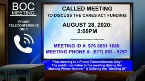 BOC Called Meeting