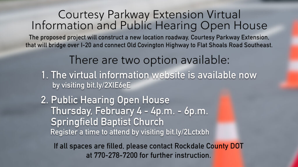 Courtesy Parkway Extension Public Hearing Open House @ Springfield Baptist Church
