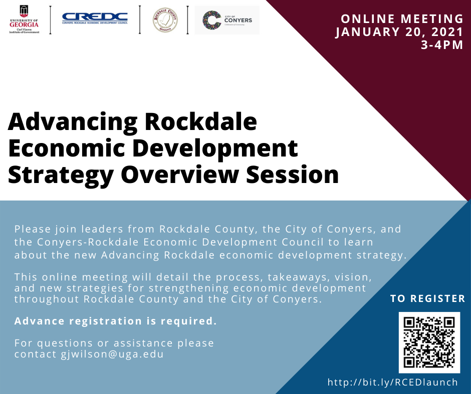 Advancing Rockdale Economic Development Strategy Overview Session
