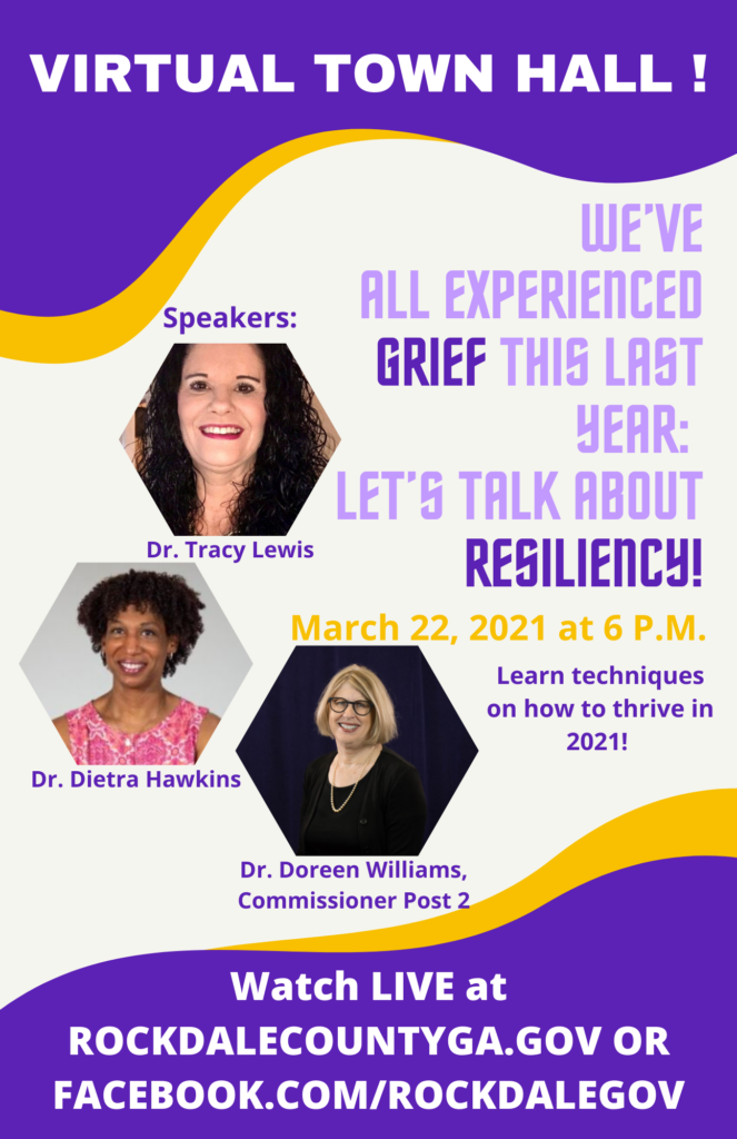 Let's Talk About Resiliency Virtual Town Hall @ Rockdale County Government Official Facebook Page