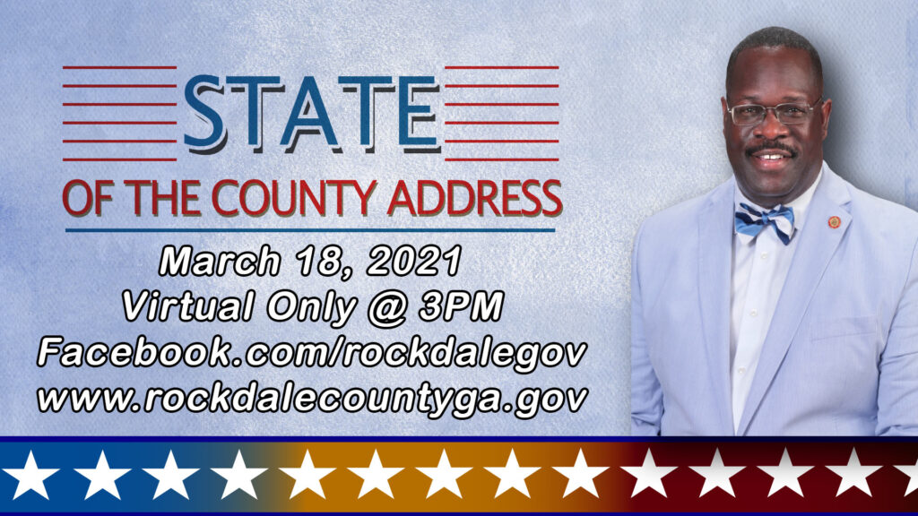 Virtual State of the County Address @ Rockdale County Government Official Facebook Page