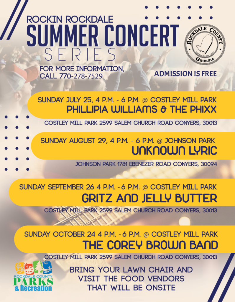 Summer Concert Series - The Corey Brown Band @ Costley Mill Park
